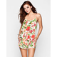 MINK PINK Wild Roses Womens Romper Coverup