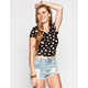 FULL TILT Floral Print Womens Crop Top