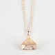 BLUE CROWN Pyramid Necklace