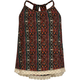 FULL TILT Ethnic Stripe Crochet Trim Girls Tank