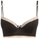 Flocked Mesh Long Line Bra