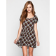 FULL TILT Plaid Babydoll Dress