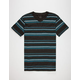 BLUE CROWN Zig Zag Stripe Mens T-Shirt