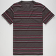 BLUE CROWN Zig Zag Stripe Mens T-Shirt