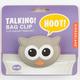 KIKKERLAND Talking Owl Bag Clip