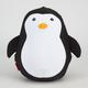 KIKKERLAND Zip & Flip Penguin Travel Pillow