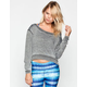 FULL TILT French Terry Burnout Womens Crop Sweatshirt
