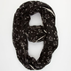 Ditsy Floral Print Crochet Trim Infinity Scarf