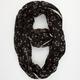 Ditsy Floral Print Crochet Trim Infinity Scarf
