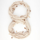 Textured Tassel Trim Infinity Scarf