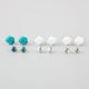 FULL TILT 6 Pairs Rose/Stud Earrings