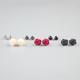 FULL TILT 6 Pairs Epoxy Rose/Stud Earrings