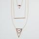 FULL TILT 3 Row Triangle/Bar Necklace