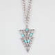 FULL TILT Cutout Rhinestone Triangle Necklace