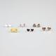 FULL TILT 6 Pairs Daisy/Heart/Love Earrings