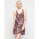 FULL TILT Boho Print Knot  Back Slip Dress