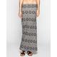 FULL TILT Linear Ethnic Print Maxi Skirt
