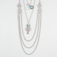 FULL TILT Owl/Geo Multi Strand Necklace