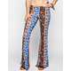 H.I.P. Vertical Ethnic Print Womens Bell Pants
