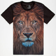 BLUE CROWN King Of The Jungle Mens T-Shirt