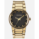 NIXON Cannon Black & Gold Watch