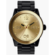NIXON Corporal SS Black & Gold Watch