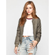 FULL TILT Reversible Womens Quilted Bomber Jacket