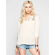 FULL TILT Embroidered Lace Yoke Womens Peasant Top