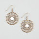 FULL TILT Flower Medallion Earrings
