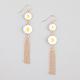 FULL TILT Daisy Drop Chain Fringe Earrings