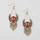 FULL TILT Filigree Leaf Teardrop Earrings
