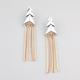 FULL TILT Fringe Tassel Triangle Earrings