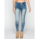 TINSELTOWN Womens Pull-On Skinny Jeans