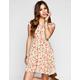 ANNIANNA Bright Floral Print Skater Dress