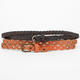 2 Pack Braid Stud Belt