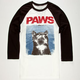 RIOT SOCIETY Paws Mens Baseball Tee