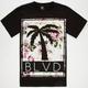 BLVD Floral Bath Mens T-Shirt