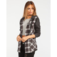 METAL MULISHA Trucks Womens Hooded Flannel Shirt
