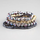 FULL TILT 6 Pack Metallic Beaded Bracelets