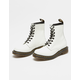 DR. MARTENS 1460 White Womens Boots