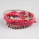 FULL TILT 4 Piece Spike Cuff/Bead/Woven Bracelets