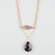 FULL TILT 2 Row Leaf/Teardrop Necklace