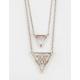 FULL TILT 2 Row Geo Cutout Triangle Necklace