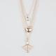 FULL TILT 3 Row Heart/Arrow/Jewel Necklace