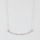 FULL TILT Rhinestone Curved Bar Necklace
