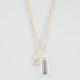 FULL TILT 2 Row Hamsa/Crystal Necklace