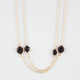 FULL TILT 2 Strand Bead Station Necklace