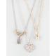FULL TILT 3 Row Dainty Rhinestone Heart Necklace