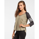 BILLABONG Taking Blame Womens Baseball Tee