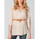 FULL TILT Button Front Womens Tunic